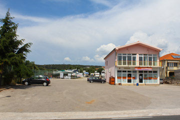 Enterance to caravan depot in Turanj, Croatia